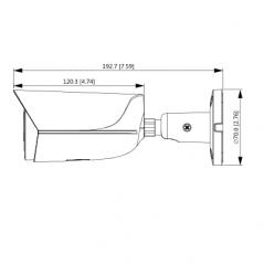 Camara IP Bullet con Inteligencia Artificial 4 Megapixeles Lente de 2.8mm Microfono Integrado IR 50 Mts
