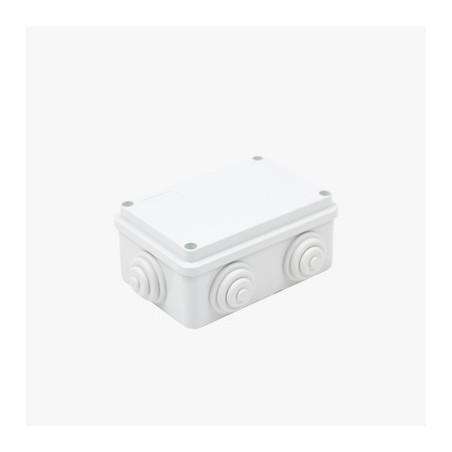 Caja de derivación de PVC Auto-extinguible con 6 entradas 120x80x50 MM Caja de plastico Gabinete plastico para Exterior