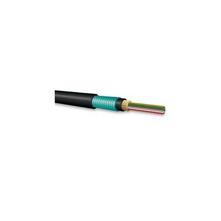 (Venta x Metro) Cable de Fibra optica OM3 Multimodo para Exterior Armada 50/125 con Kevlar 6 hilos
