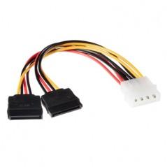 Cable SATA para Disco duro Cable para Disco duro de 50cm Conexion Doble Cable SATA de corriente para Disco Duro
