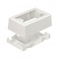 Caja de Pared Superficial, uso Universal con Placas de Pared, Con Cinta Adhesiva, Color Blanco Mate Caja Universal Panduit