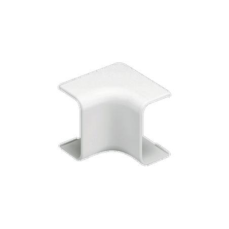 Esquinero interior, para uso con canaleta LD5, material ABS, Color Blanco Mate Esquinero para Canaleta LD5