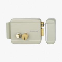 Cerradura Eléctrica con botón de salida/ Incluye Llave / Exterior / Derecha Chapa para exterior electrico 12v Chapa Electrica