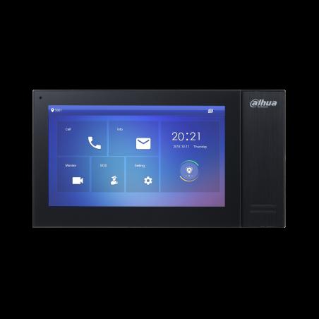 Monitor IP touch de 7 pulgadas Intercomunicador con pantalla hasta 20 Frentes de Calle Dahua IP PoE STANDAR