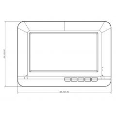 Monitor analógico de 7 pulgadas compatible con DAH-TVFR2010 Monitor Dahua HD Analogo TV Portero Videoportero Monitor Adicional