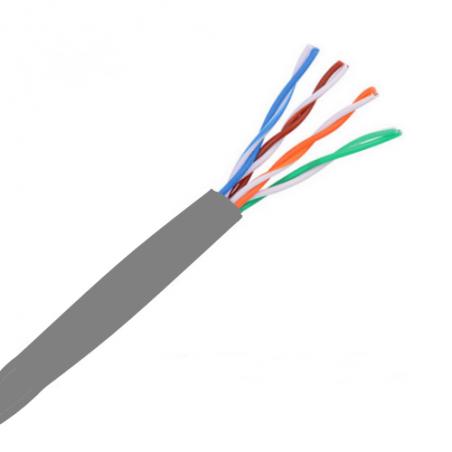 Bobina de Cable UTP RJ45 Cat5e Ethernet Bobina de 305 Metros Cable UTP Cal. 24 GRIS para interior