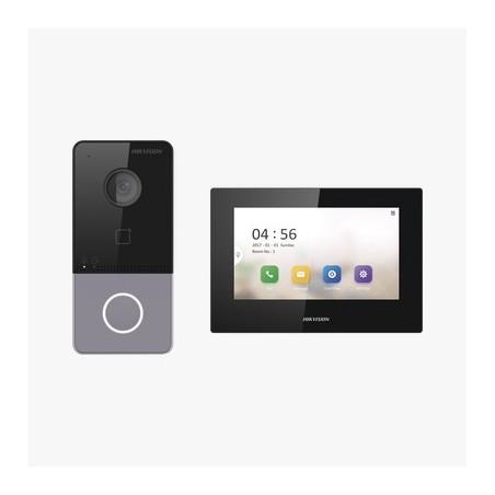 Kit de Videoportero IP LITE con llamada a App de Smartphone (Hik-Connect) / Frente de Calle IP65 / Soporta PoE