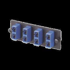Placa Acopladora de Fibra Optica FAP, Con 3 Conectores SC Duplex (6 Fibras), Para Fibra Monomodo OS1/OS2, Color Azul