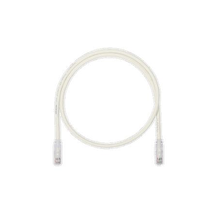 Cable de Parcheo UTP, Cat6A, 26 AWG, CM, Color Blanco Mate, 7ft Patch Cord Cat6a Panduit Cat.6A Blanco