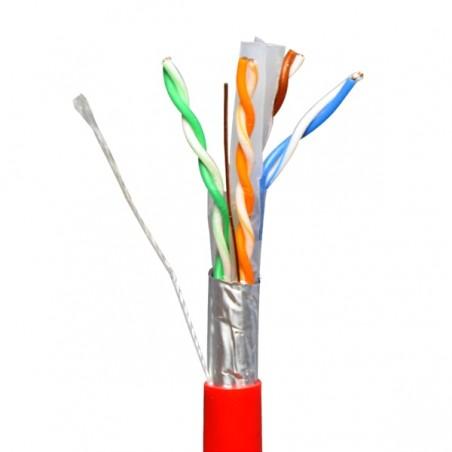 Bobina de Cable UTP Interior Exterior Blindada FTP Cat6 4 pares 8 Hilos Cable UTP Blindado Cable FTP