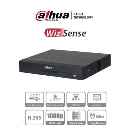 DVR de 4 Canales 5 Megapixeles Lite hasta 6TB DVR de 5 Megapixel Dahua 2 canales IP Reco Facial