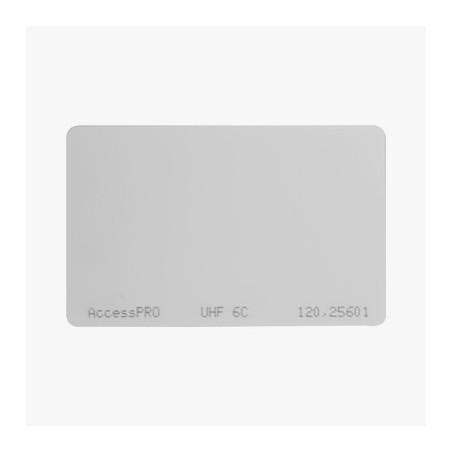 Tag UHF tipo Tarjeta para lectoras de largo alcance 900 MHZ / EPC GEN 2 / ISO 18000 6C / No imprimible sin porta tarjeta