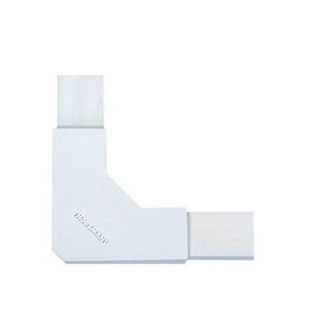 """Sección en """"L"""" blanco de PVC auto extinguible, para canaletas 1020 Conector tipo L para Canaleta"""