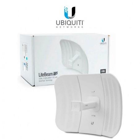 LiteBeam airMAX M5 CPE hasta 100 Mbps, 5 GHz (5150 - 5875 MHz) con antena integrada de 23 dBi