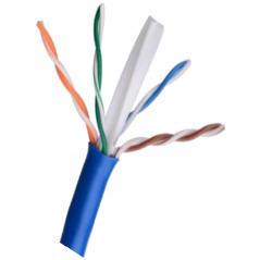 Bobina De Cable Utp Con Cat 6 Forro Grueso Azul Bobina de Cable UTP Cat6 para CCTV, Controles de Acceso Uso interior
