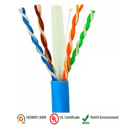 Bobina de Cable de 100 Metros Cat.6 100% cobre alto rendimiento Azul para CCTV, Redes, Automatizacion