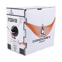 Cable Calibre 22, 4 Hilos, 305M, Color Blanco Cable para Bocina Alarma Automatizacion 4 Hilos Calibre 22 AWG Cable 4x22