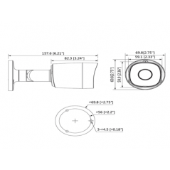 Camara Bullet HDCVI 1080p/ 720p 93 Grados de Apertura Lente 3.6 mm IR de 20 Mts IP67 Metalica