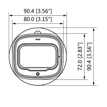 CAMARA DOMO HDCVI 1080P ANTIVANDALICA/ TVI / AHD/ CVBS/ LENTE 2.8MM/ 115 GRADOS DE VISION IR 30M/ IP67