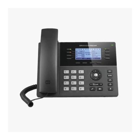 Teléfono IP Gama media de 8 Líneas con 4 teclas de función, 32 teclas de extensión BLF digital y conferencia de 5 vías PoE