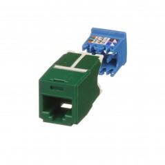 Conector Jack RJ45 Estilo TG, Mini-Com, Categoría 6A, de 8 posiciones y 8 cables, Color Verde