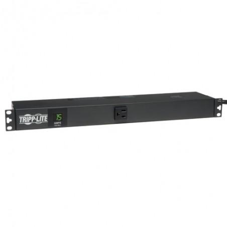 Tripp Lite PDU Monofásico con Medidor Digital, 15A 120V, para Instalación Horizontal en 1U de Rack
