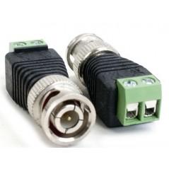 (Venta x pieza) Conector BNC de Video Conector Balun Conector Verde para Camaras