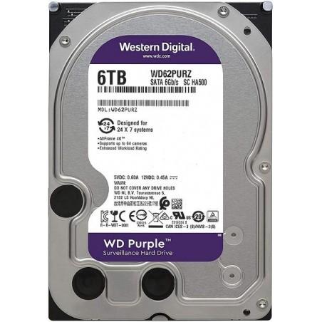 Disco Duro PURPLE de 6TB / 3 AÑOS DE GARANTÍA / Para Videovigilancia Disco duro de 6 Teras Western Purple Disco Duro