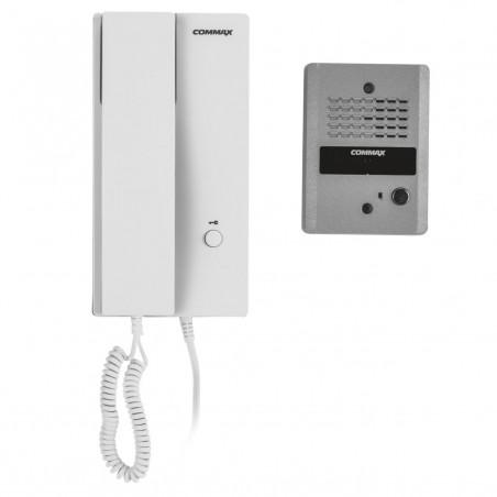 Kit de interfon con frente de calle y auricular conexión a 2 hilos Portero + Telefono para Casa Interfon Kit