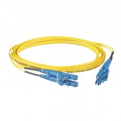 Jumper de Fibra Optica Monomodo 9/125 OS2, LC-LC Duplex, OFNR (Riser), Color Amarillo, 2 Metros