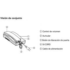 Telefono Adicional para Kit de Audioportero aDP2SDR2GN Telefono para Audio portero Commax a 2 Hilos