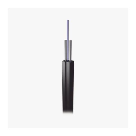Carrete de 1 km de Fibra Óptica Drop, Interior/Exterior G.657A2 Monomodo de 1 hilo, Dieléctrica, Forro Negro