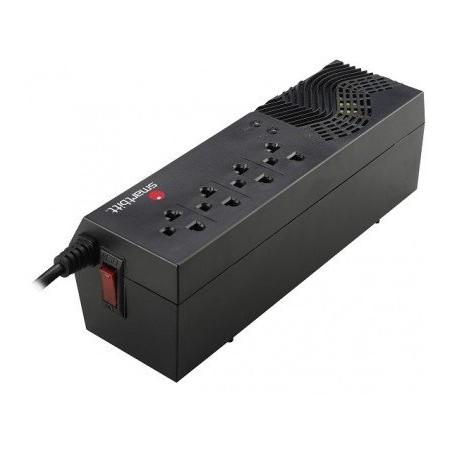Regulador de voltaje Smartbitt SBAVR1200S 1200VA entrada y salida de 120V negro Supresor de Picos