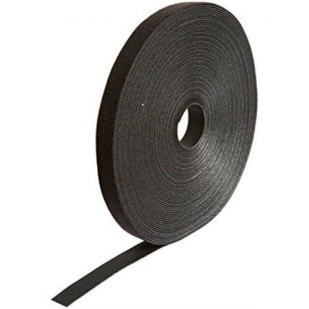 Rollo de Cinta de Contacto, de 75 Pies (22.9m) de Largo, 19.1 mm de Ancho, Color Negro Organizador de Cable Velcro