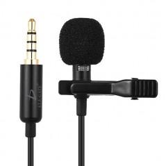 Collar Metalical Teléfono Micrófono 3.5Mm Jack Mano Libres Microfono para Podcast Microfono para Celular computadora