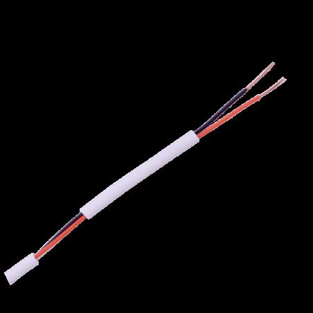 Cable de alarma de 2 conductores 2X22 AWG Blanco 100 metros Cable para Bocina Bicolor para control de acceso, Videoportero