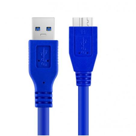Cable Usb 3.0 Para Disco Duro Externo, 1 Metro Cable Adaptador Disco Duro Cable Adaptador Micro B Usb 3.0 Disco Duro Super Speed