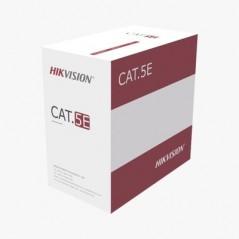 Bobina de Cable UTP 305 mts / Cat 5E / CCA / 24 AWG / PVC / Uso en Interior / Color Gris Cable UTP para interior