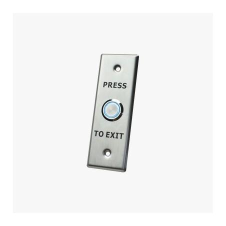Botón de salida con aro iluminado/ IP65 Boton para control de Acceso No, COM, NC Boton para porton boton de salida con luz led