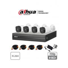 Paquete Kit de 4 Camaras de Seguridad Paquete de Camaras de Seguridad para Casa Cable, Camaras, Grabador (DVR) , Fuente