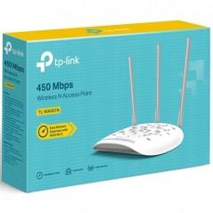 Punto de acceso / Repetidor Wi-Fi, 2.4 GHz, 450 Mbps, 3 antenas externas omnidireccional, 1 Puerto WAN 10/100 Mbps