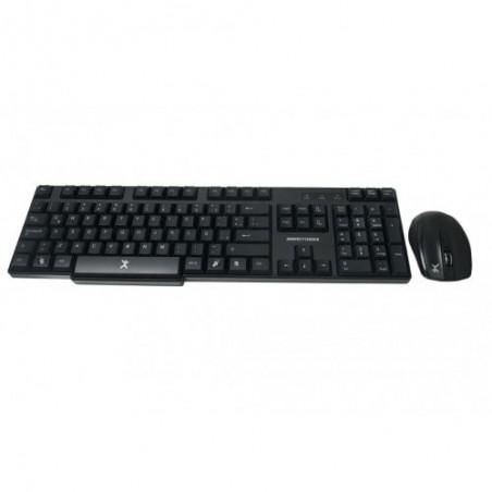 Teclado Antiderrames / Mouse Optico Perfect Choice Inalambrico Usb Negro Kit de teclado con Mouse inalambrico