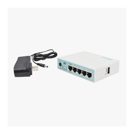 (hEX) RouterBoard, 5 Puertos Gigabit Ethernet, 1 Puerto USB y versión 3