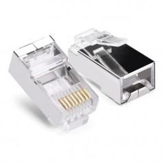Intellinet 502344 Plug Modular Utp Rj45 Cat 6e, 2 Puntas Mul Bote C/100 Plug Rj45 Cat 6 Conector Rj45 Cat 6 Intellinet