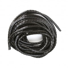 "Espiral Negro Agrupa Cables Orgnizador De Cables 1/2"" Rollo De 10 Metros Organizador De Cables En Espiral De 1/2 Negro"