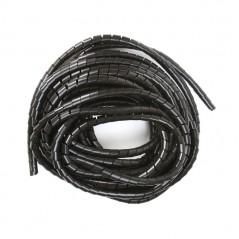"Espiral Negro Agrupa Cables Orgnizador De Cables 1/4"" Rollo De 10 Metros Organizador De Cables En Espiral De 1/4 Negro"