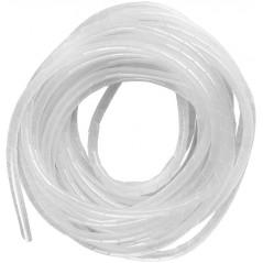 "Espiral Blanco Agrupa Cables Orgnizador De Cables 1/2"" Rollo De 10 Metros Organizador De Cables En Espiral De 1/2 Blanco"
