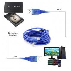 Cable Usb 2.0 Macho A Macho para DiscoDuro 10M Cable USB de 10 Metros Extension USB Macho - Macho