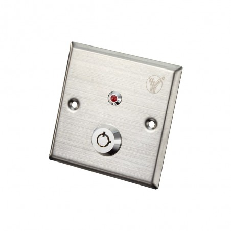 Botón liberador con llave Boton de Acero Inox Luz LED Resistente al agua NC Y NO