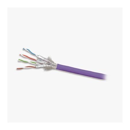 Bobina de Cable Blindado S/FTP de 4 pares, Cat7A, Inmune a Ruido e Interferencias, LS0H (Bajo humo, Cero Halógenos